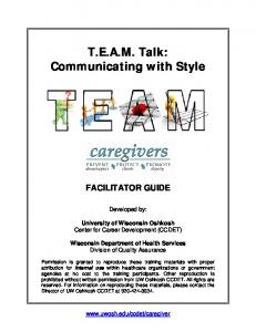 T.E.A.M. Talk: Communicating with Style
