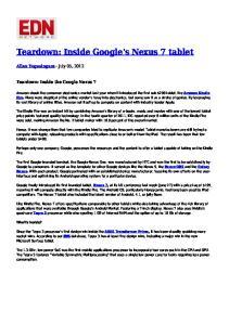 Teardown: Inside Google's Nexus 7 tablet