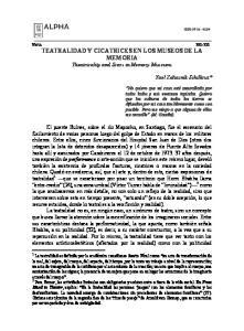 TEATRALIDAD Y CICATRICES EN LOS MUSEOS DE LA MEMORIA