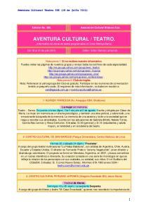 TEATRO. (Informativo de obras de teatro programados en Lima Metropolitana)