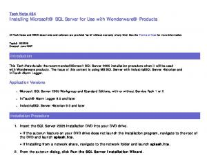 Tech Note 484 Installing Microsoft SQL Server for Use with Wonderware Products