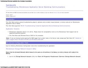Tech Note 876 Troubleshooting Wonderware Application Server Bootstrap Communications