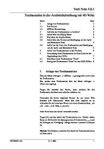 Tech Note Textbausteine in der Arztbriefschreibung mit 4D Write