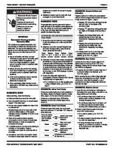 TECH SHEET - DO NOT DISCARD PAGE 1