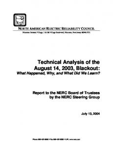 Technical Analysis of the August 14, 2003, Blackout: What Happened, Why, and What Did We Learn?