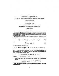 Technical Appendix for