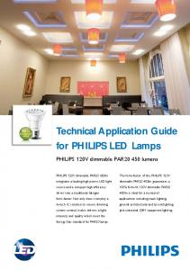 Technical Application Guide for PHILIPS LED Lamps