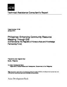 Technical Assistance Consultant s Report