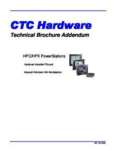Technical Brochure Addendum