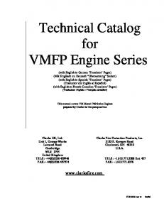 Technical Catalog for VMFP Engine Series