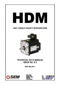 TECHNICAL DATA MANUAL ISSUE NO. 5