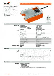 Technical data. Safety notes. Product features
