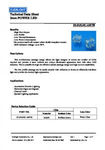 Technical Data Sheet 3mm POWER LED