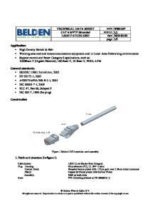 TECHNICAL DATA SHEET code NN01297