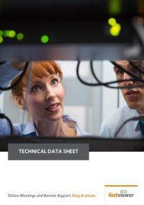 TECHNICAL DATA SHEET. FastViewer GmbH