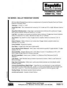 TECHNICAL DATA SHEET NO. 102d
