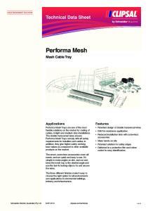 Technical Data Sheet. Performa Mesh