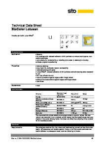 Technical Data Sheet StoColor Lotusan