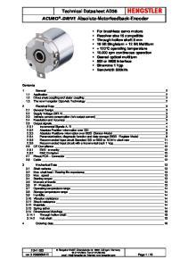 Technical Datasheet AD36 ACURO -DRIVE Absolute-Motorfeedback-Encoder
