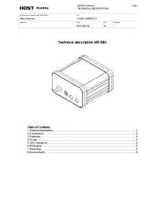 Technical description MX-MIC