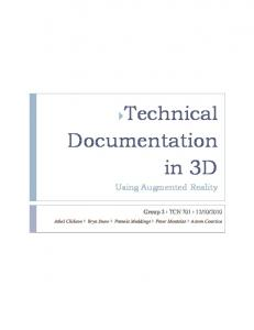 Technical Documentation in 3D