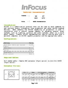 Technical Documentation X6 X6C. RS232 Documentation