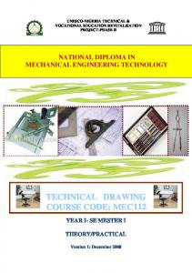 TECHNICAL DRAWING COURSE CODE: MEC 112