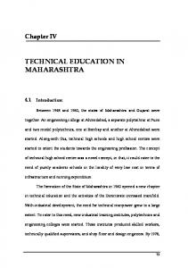 TECHNICAL EDUCATION IN MAHARASHTRA
