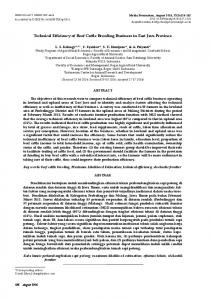 Technical Efficiency of Beef Cattle Breeding Business in East Java Province