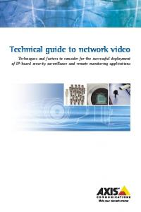 Technical guide to network video