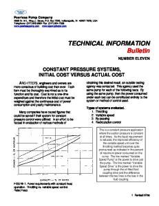 TECHNICAL INFORMATION Bulletin