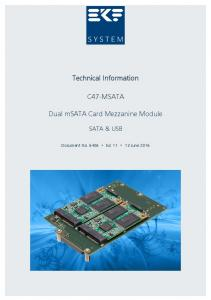 Technical Information C47-MSATA. Dual msata Card Mezzanine Module