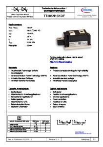 technical information. Netz-Thyristor-Modul Phase Control Thyristor Module