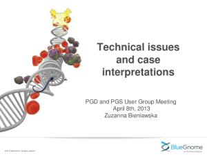 Technical issues and case interpretations