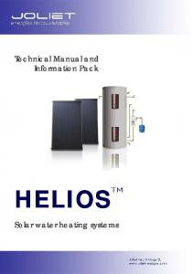 Technical Manual and Information Pack HELIOS. Solar water heating systems