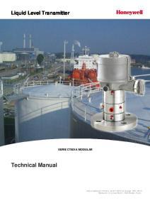 Technical Manual. Liquid Level Transmitter SERIE CT801A MODULAR