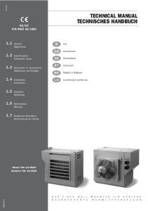 TECHNICAL MANUAL TECHNISCHES HANDBUCH