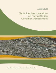 Technical Memorandum on Pump Station Condition Assessment