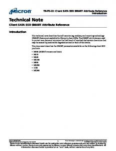Technical Note. Client SATA SSD SMART Attribute Reference. Introduction. TN-FD-22: Client SATA SSD SMART Attribute Reference