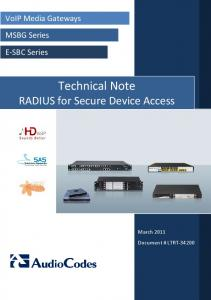 Technical Note RADIUS for Secure Device Access