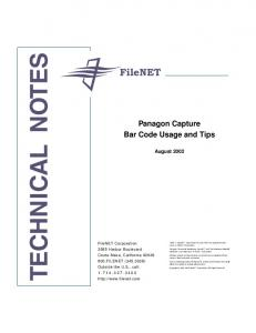 TECHNICAL NOTES. of FileNET Corporation