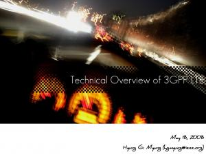 Technical Overview of 3GPP LTE