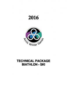 TECHNICAL PACKAGE BIATHLON - SKI
