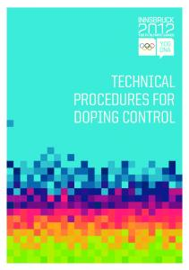 TECHNICAL PROCEDURES FOR DOPING CONTROL