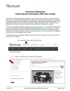 Technical Publications Online Service Information (OSI) User s Guide