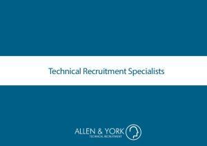 Technical Recruitment Specialists TECHNICAL RECRUITMENT