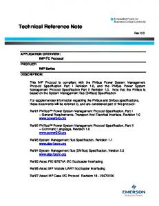 Technical Reference Note