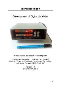 Technical Report. Development of Digital ph Meter