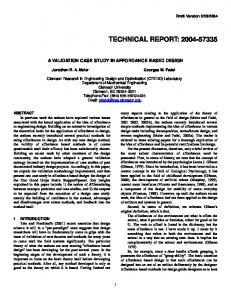 TECHNICAL REPORT: