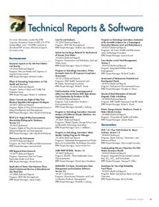 Technical Reports & Software
